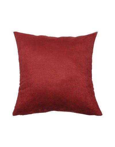 Kazadosofa Suede liso vermelho